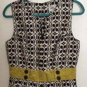 Milly black & cream patterned dress - EUC